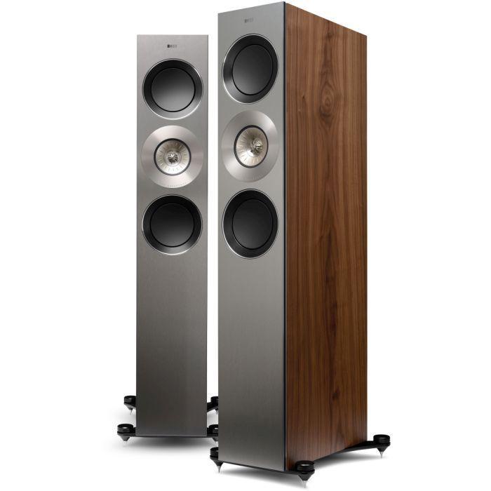 kef tower speakers. kef reference 3 tower speaker. model-3-pair-walnut-wbg kef speakers