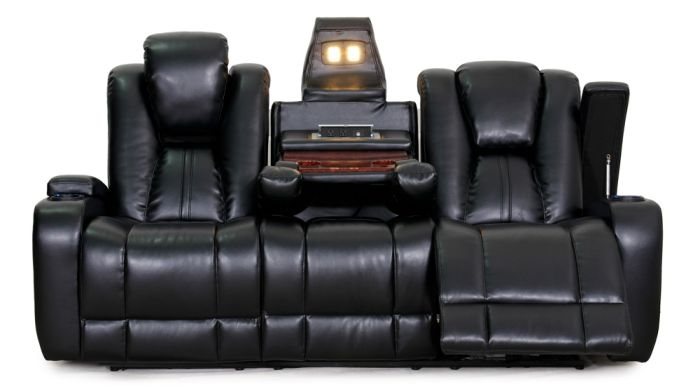 Furniture Row Brown Leather Sectional