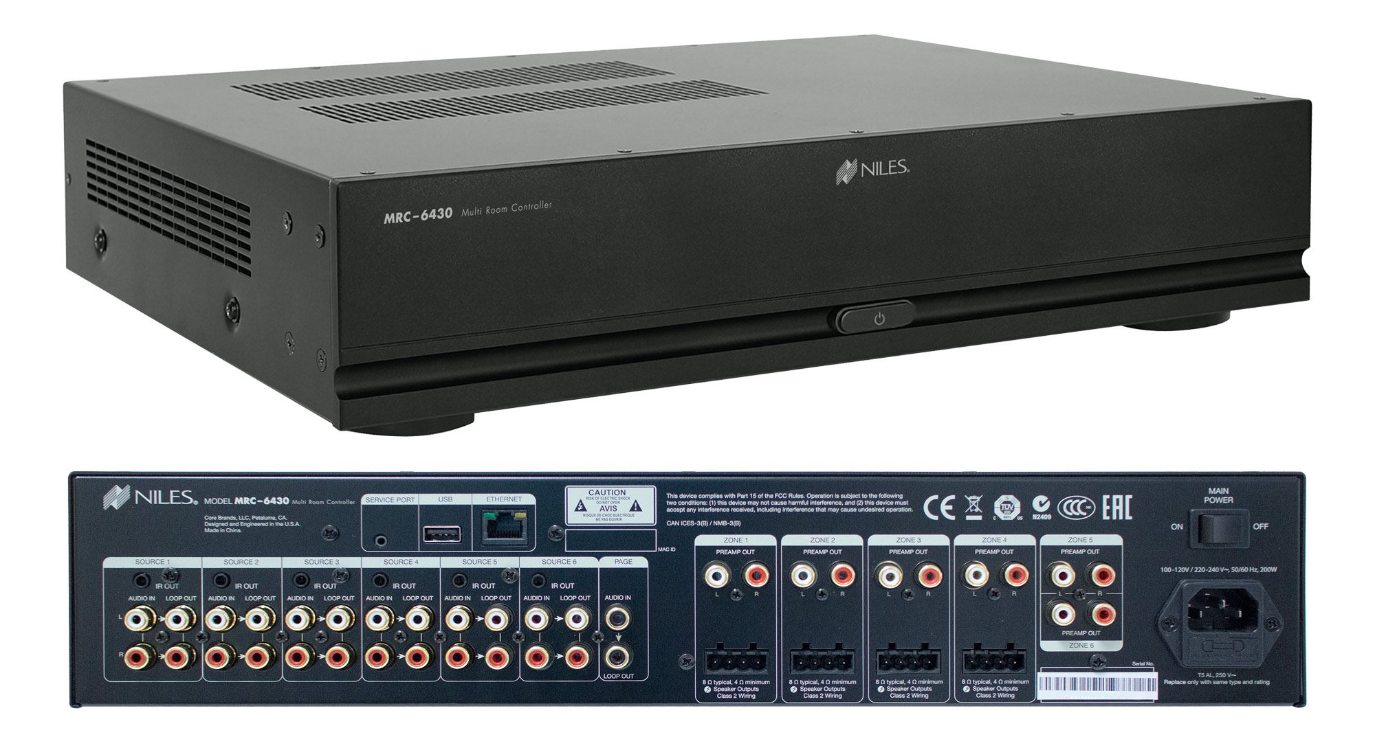 niles mrc6430 multi room audio and control chassis. Black Bedroom Furniture Sets. Home Design Ideas