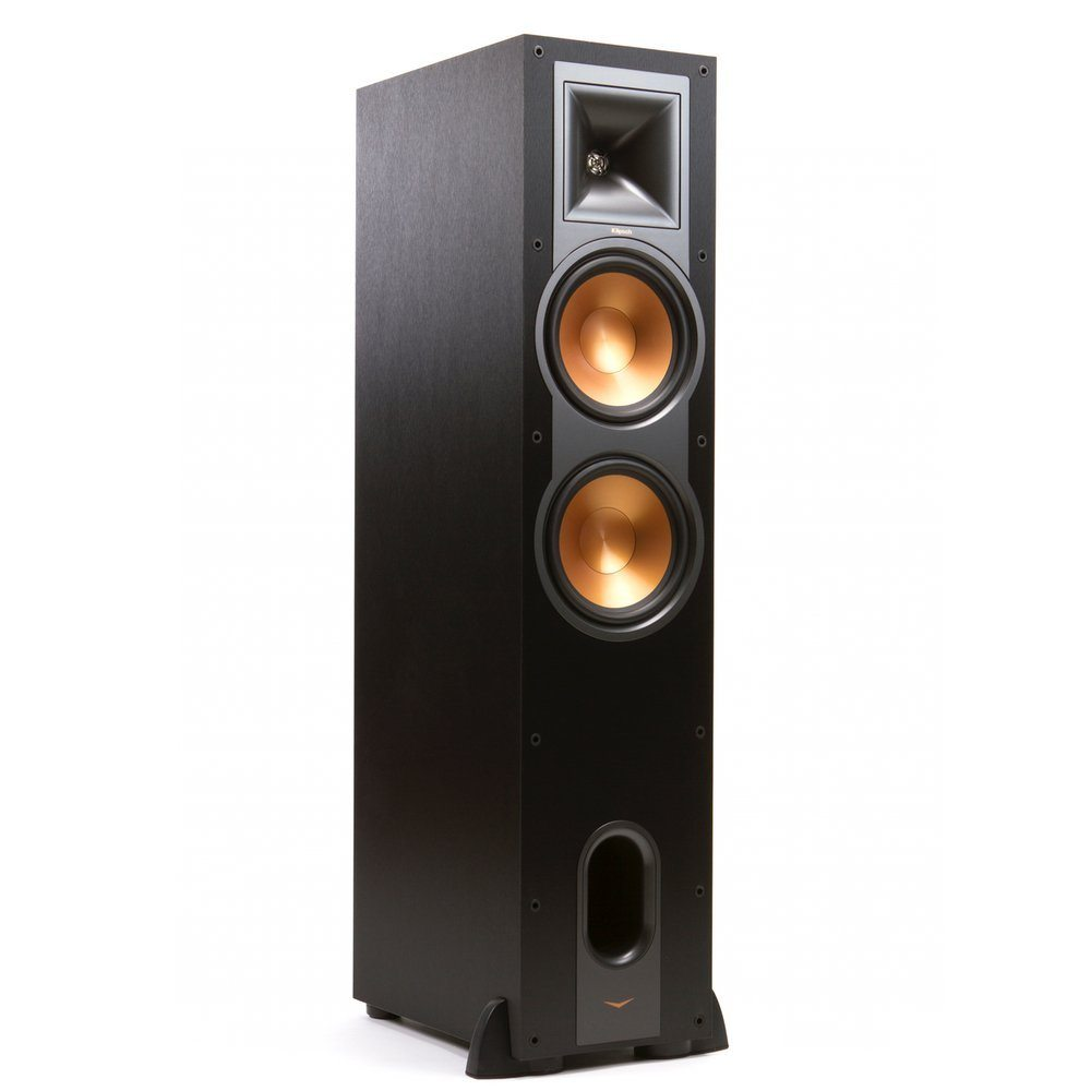 Klipsch R 26f Black Tower Speaker Dual 6 Inch