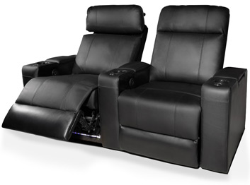 Valencia Piacenza Home Theater Seating Adjustable Powered Recline Position
