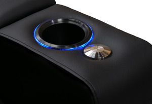 Valencia Piacenza Home Theater Seating Sleek LED Cup Holder