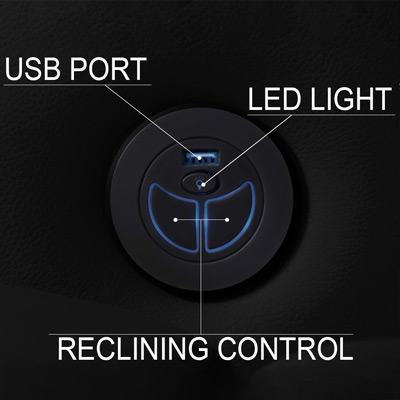 Valencia Piacenza Home Theater Seating USB Charging and Powered Controls