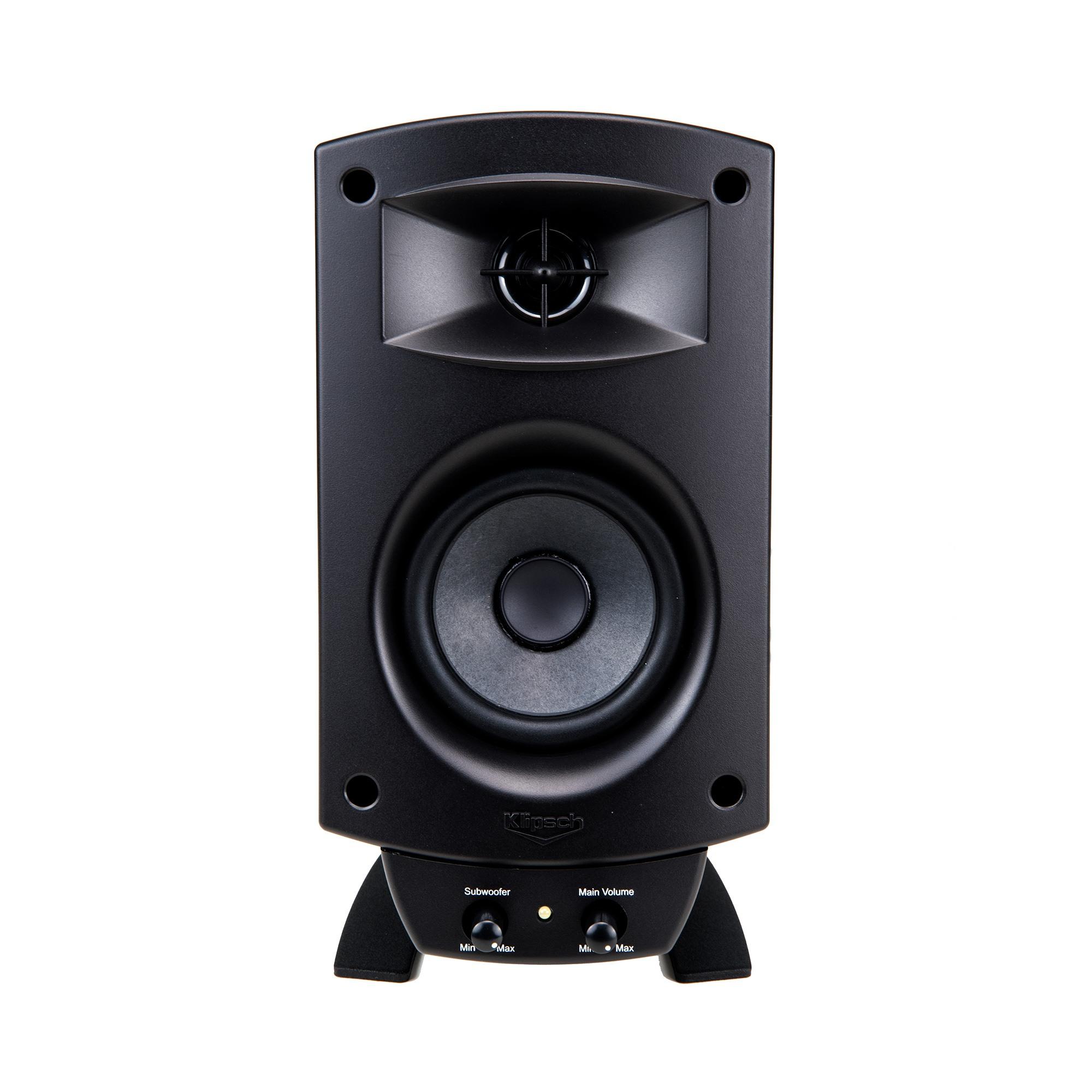 klipsch promedia 2 1 bluetooth computer speaker system. Black Bedroom Furniture Sets. Home Design Ideas