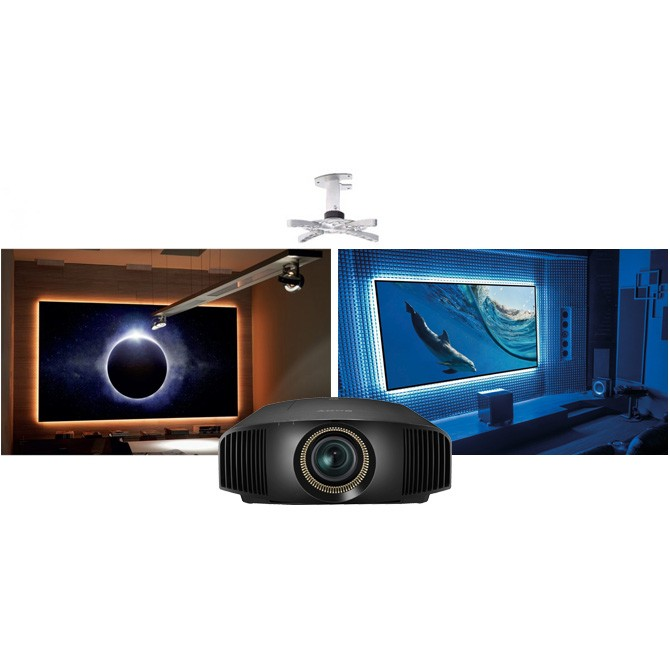 Sony VPL-VW285ES Projector + EluneVision 4K NanoEdge Package – Free Ceiling  Mount