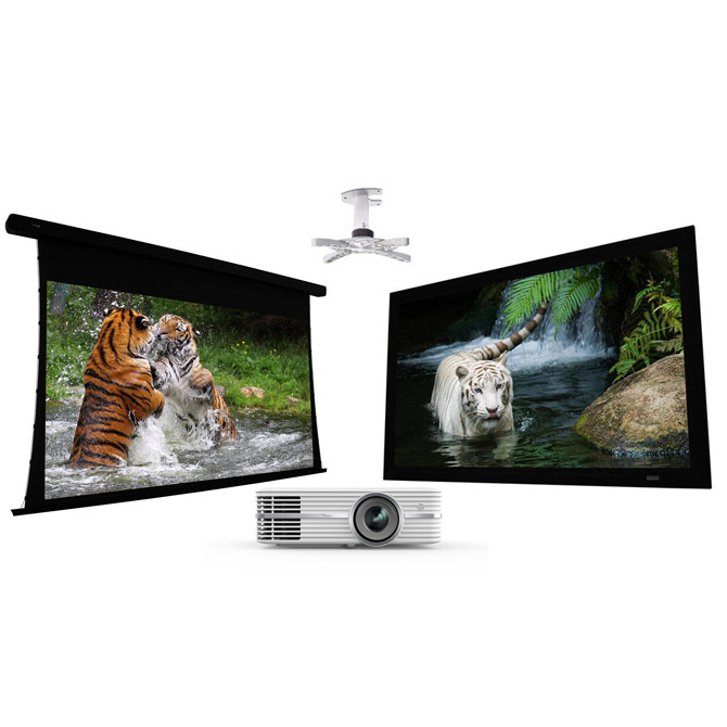 Optoma UHD50 + EluneVision Reference Studio 4K Package + Free Ceiling Mount