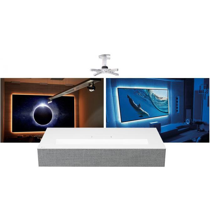 LG HU85LA UST 4K Projector + EluneVision 4K Aurora Ultra Short Throw  NanoEdge Package