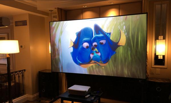 LG HU85LA 4K UST Projector + EluneVision Aurora ALR ST Screen