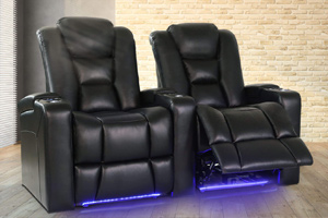 Valencia Venice Home Theater Seating Adjustable Powered Recline Position