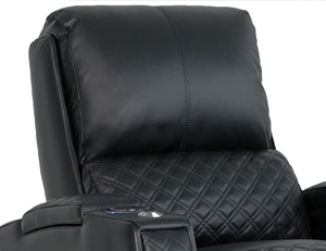 Valencia Bern Home Theater Seating Adjustable Powered Headrest Position