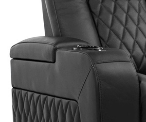 Valencia Tuscany Home Theater Seating Hidden Storage in Every Seat Arm
